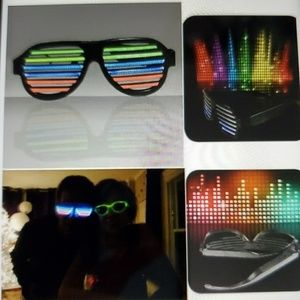 Rechargeable LED RAVE GLASSES